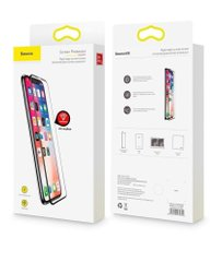 Защитное стекло Baseus 3D 0.2mm (2pcs-pack+frame) iPhone X/XS/11 Pro